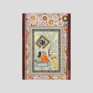 Persian Miniature 5'x7'area Rug