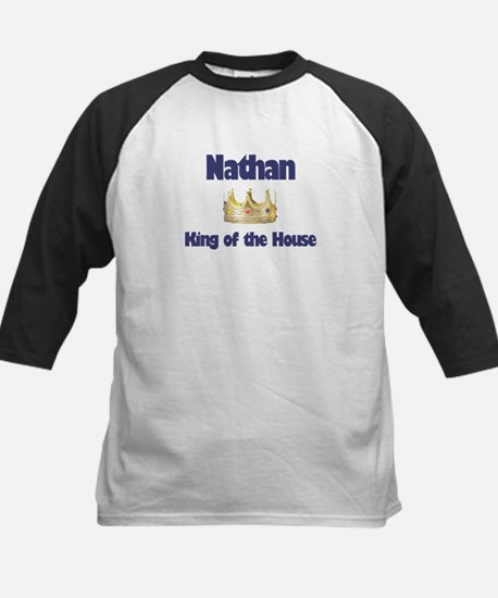 Nathan - King of the House Kids Baseball Jersey