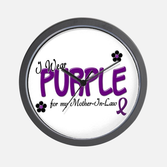 I Wear Purple For My Mother-In-Law 14 Wall Clock
