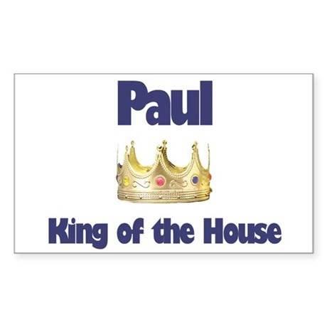 Paul - King of the House Rectangle Sticker