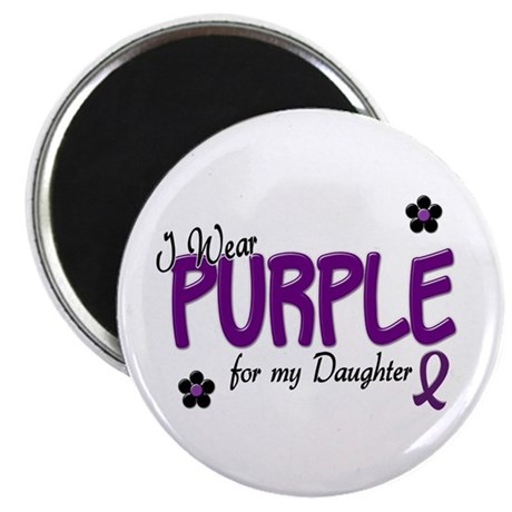 """I Wear Purple For My Daughter 14 2.25"""" Magnet (10"""