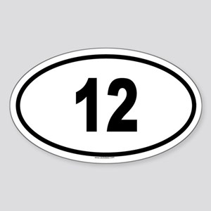12 Oval Sticker