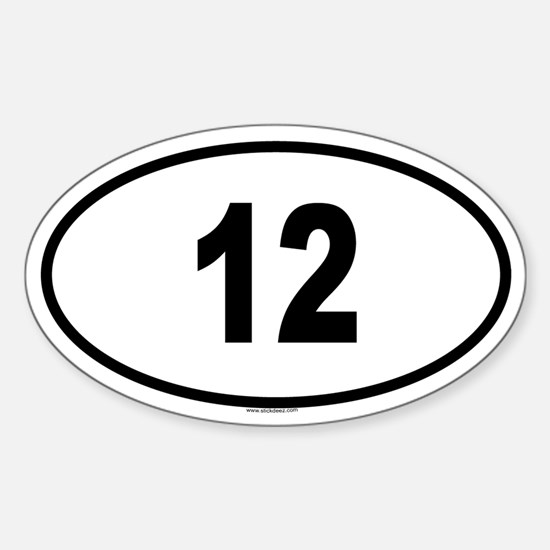 12 Oval Decal