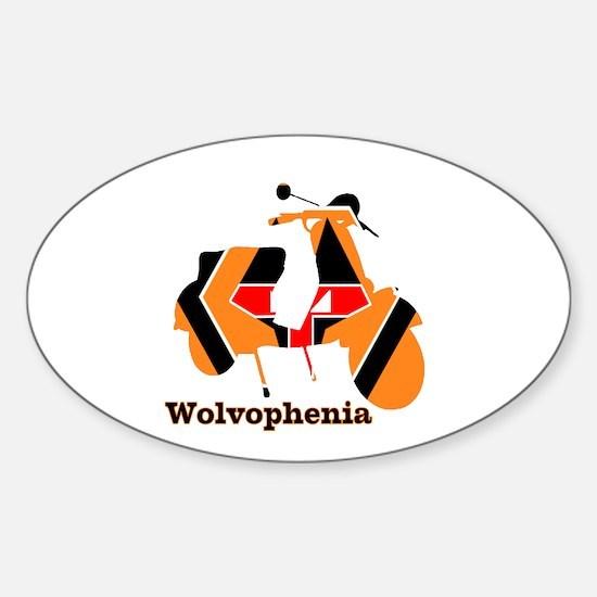 WOLVOPHENIA WOLVES Sticker (Oval)