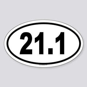 21.1 Oval Sticker