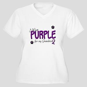 I Wear Purple For My Grandson 14 Women's Plus Size