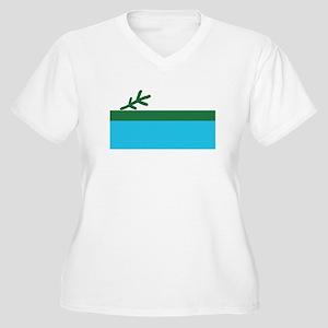 LABRADOR Womes Plus-Size V-Neck T-Shirt