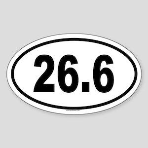 26.6 Oval Sticker