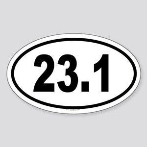 23.1 Oval Sticker