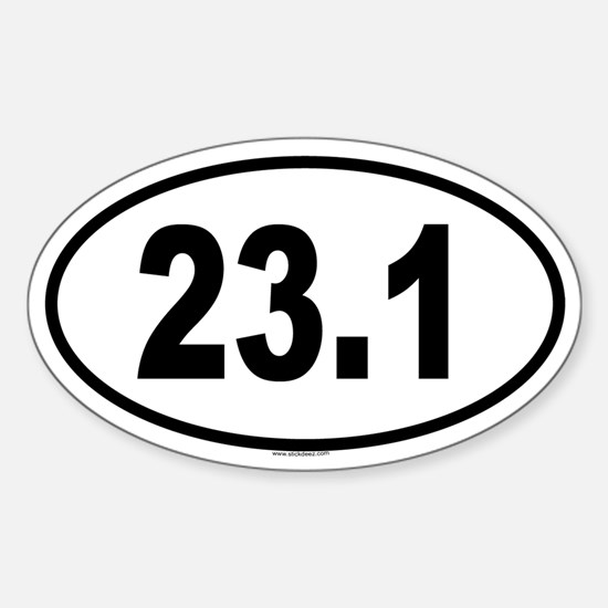 23.1 Oval Decal