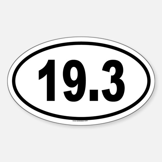 19.3 Oval Decal