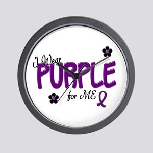 I Wear Purple For ME 14 Wall Clock