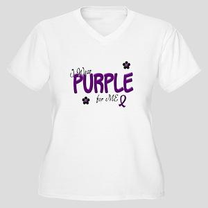 I Wear Purple For ME 14 Women's Plus Size V-Neck T