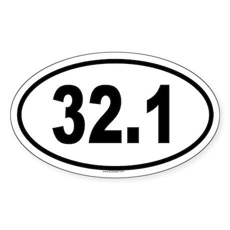 32.1 Oval Sticker