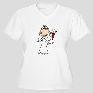 Stick Figure Bride Women's Plus Size V-Neck T-Shir