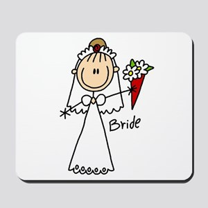 Stick Figure Bride Mousepad