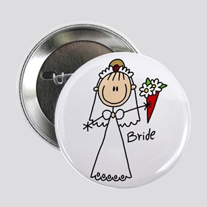 "Stick Figure Bride 2.25"" Button"
