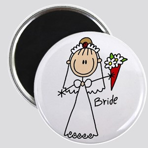 Stick Figure Bride Magnet