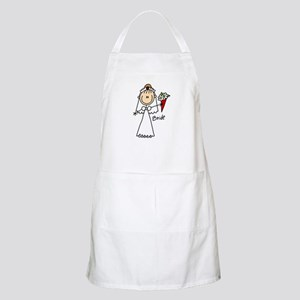 Stick Figure Bride BBQ Apron
