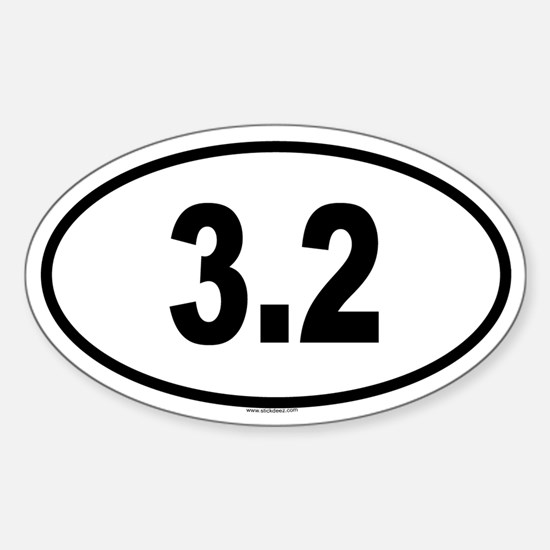 3.2 Oval Decal