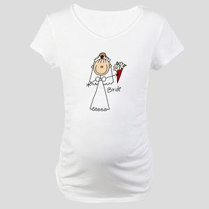 Stick Figure Bride Maternity T-Shirt