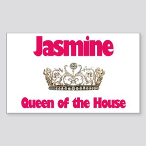 Jasmine - Queen of the House Rectangle Sticker