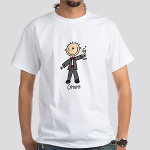 Stick Figure Groom White T-Shirt