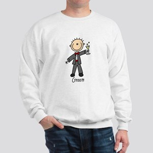 Stick Figure Groom Sweatshirt