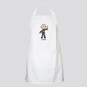 Stick Figure Groom BBQ Apron