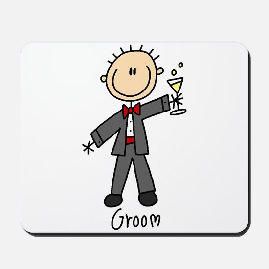 Stick Figure Groom Mousepad
