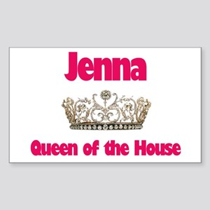 Jenna - Queen of the House Rectangle Sticker