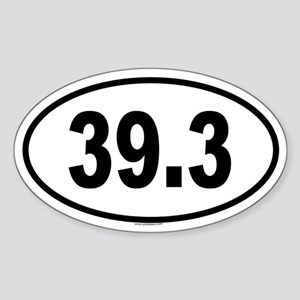 39.3 Oval Sticker