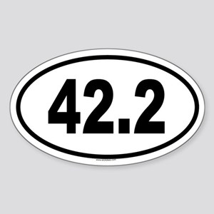 42.2 Oval Sticker