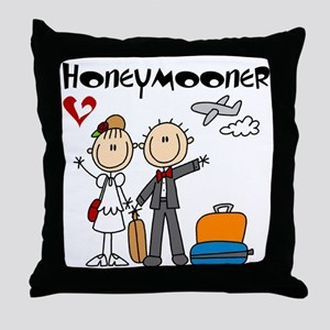 Stick Figures Honeymooner Throw Pillow