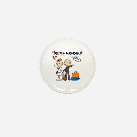 Stick Figures Honeymooner Mini Button