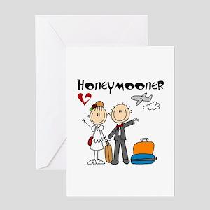 Stick Figures Honeymooner Card Greeting Cards