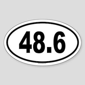 48.6 Oval Sticker