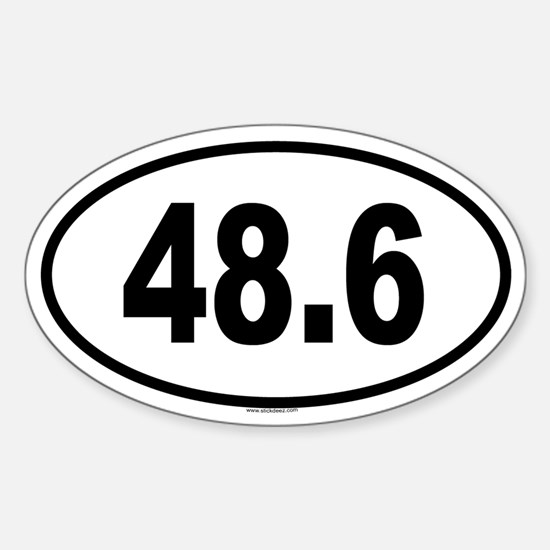 48.6 Oval Decal