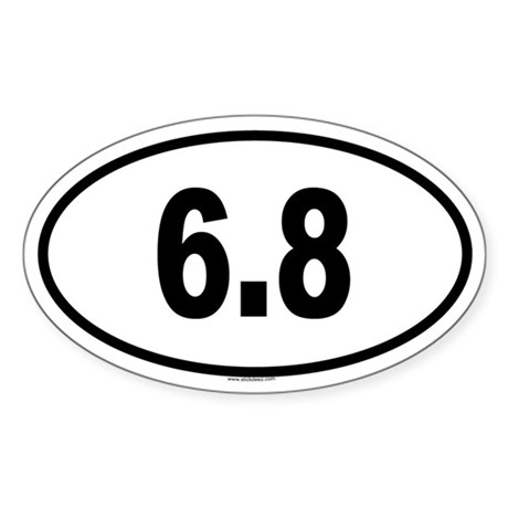 6.8 Oval Sticker