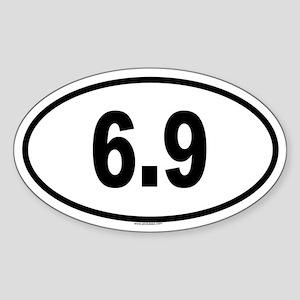 6.9 Oval Sticker