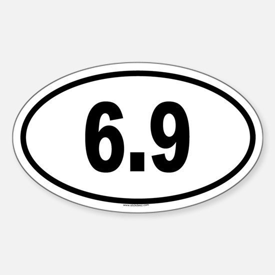 6.9 Oval Decal