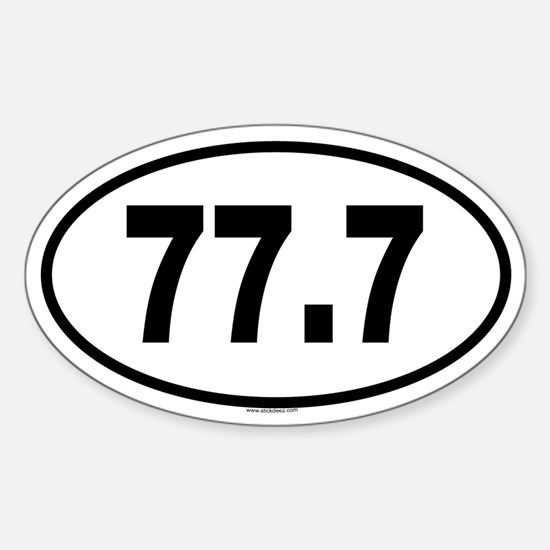 77.7 Oval Decal