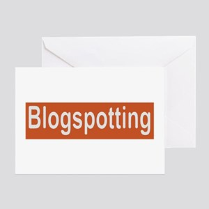 blogspotting Greeting Card