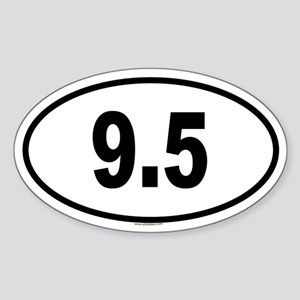 9.5 Oval Sticker