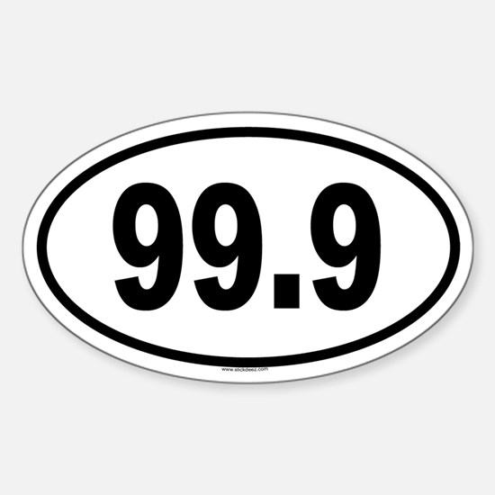 99.9 Oval Decal