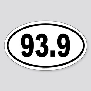 93.9 Oval Sticker
