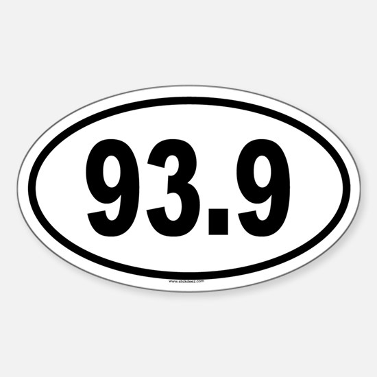 93.9 Oval Decal