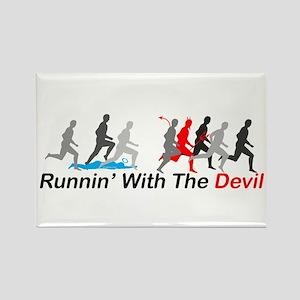 Runnin' With the Devil Rectangle Magnet
