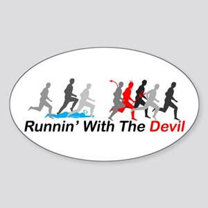 Runnin' With the Devil Oval Sticker