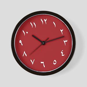 Iranian Wall Clock (Red)